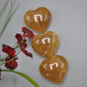 Honey Citrine Calcite Heart